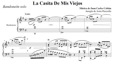 La Casita De Mis Viejos (arr. Astor Piazzolla) - bandoneón solo