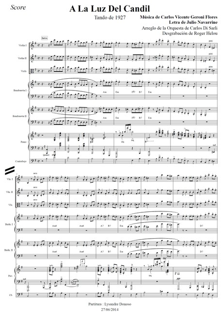 A La Luz Del Candil - orquesta típica de Carlos Di Sarli