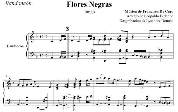 Flores Negras (arr. Leopoldo Federico) - bandoneón solo