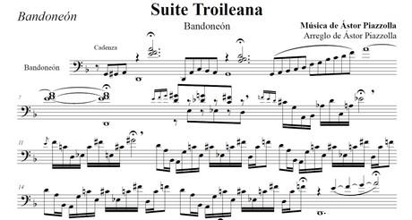 Suite Troileana - Bandoneón (arr. Astor Piazzolla) - bandoneón solo