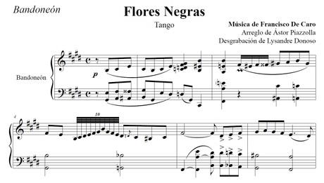 Flores Negras (arr. Astor Piazzolla) - bandoneón solo