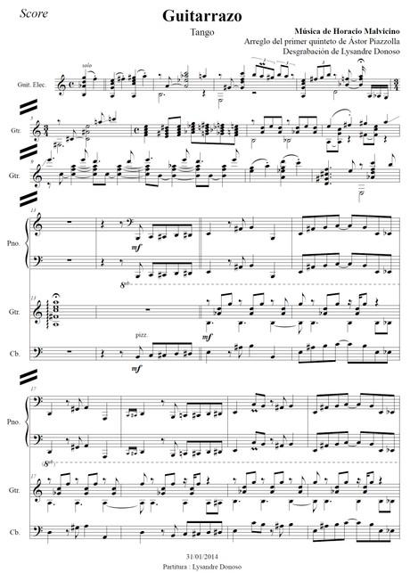 Guitarrazo - quinteto de Astor Piazzolla
