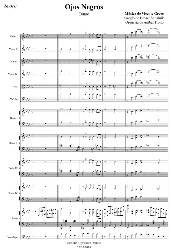 Ojos Negros (arr. Ismael Spitalnik) - orquesta típica de Aníbal Troilo