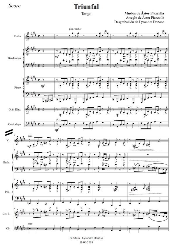 Triunfal - quinteto de Astor Piazzolla