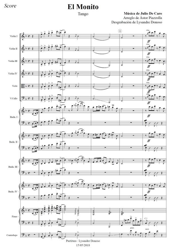 El Monito (arr. Astor Piazzolla) - orquesta típica de Aníbal Troilo