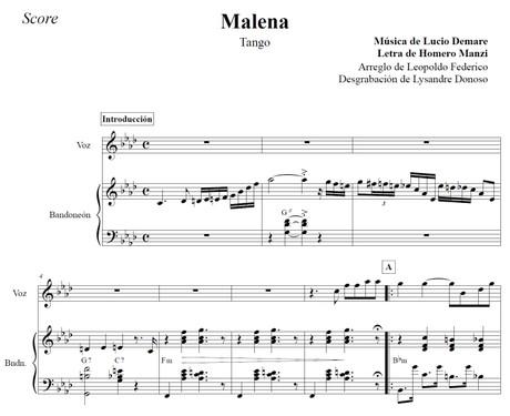 Malena (arr. Leopoldo Federico) - dúo bandoneón & voz