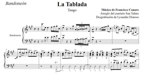La Tablada (arr. Federico-Grela) - bandoneón & guitarras
