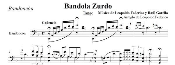 Bandola Zurdo (arr. Leopoldo Federico) - bandoneón solo