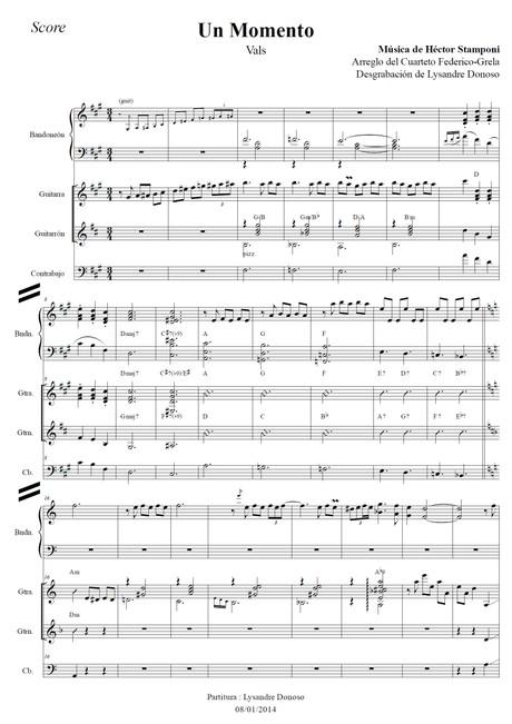 Un Momento (arr. Federico-Grela) - bandoneón & guitarras