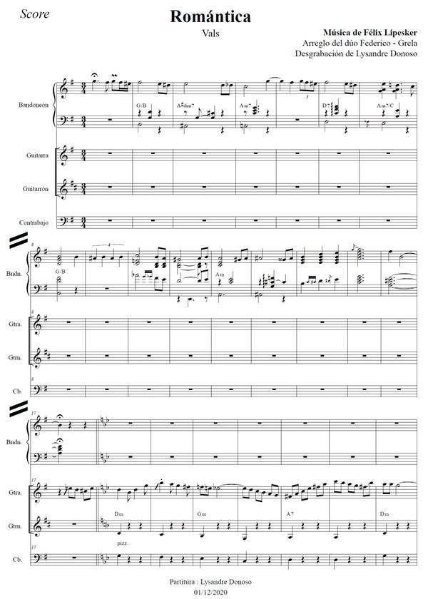 Romántica (arr. Federico-Grela) - bandoneón & guitarras