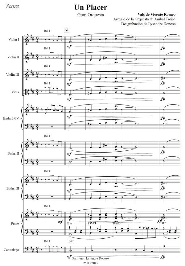 Un Placer - orquesta típica de Aníbal Troilo