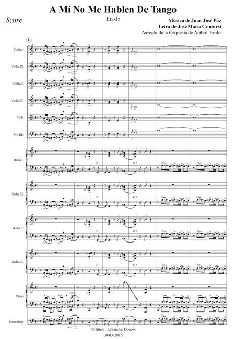 A Mí No Me Hablen De Tango - orquesta típica de Aníbal Troilo