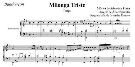 Milonga Triste (arr. Astor Piazzolla) - bandoneón solo