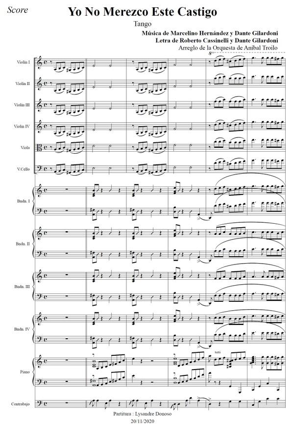 Yo No Merezco Este Castigo - orquesta típica de Aníbal Troilo