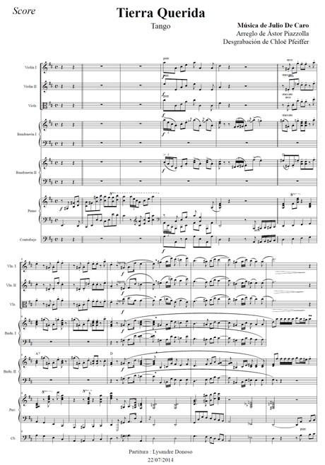 Tierra Querida - orquesta típica de Astor Piazzolla