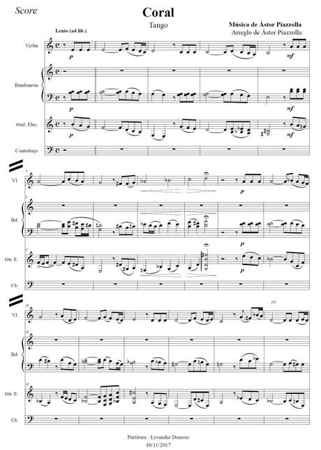 Coral - quinteto de Astor Piazzolla