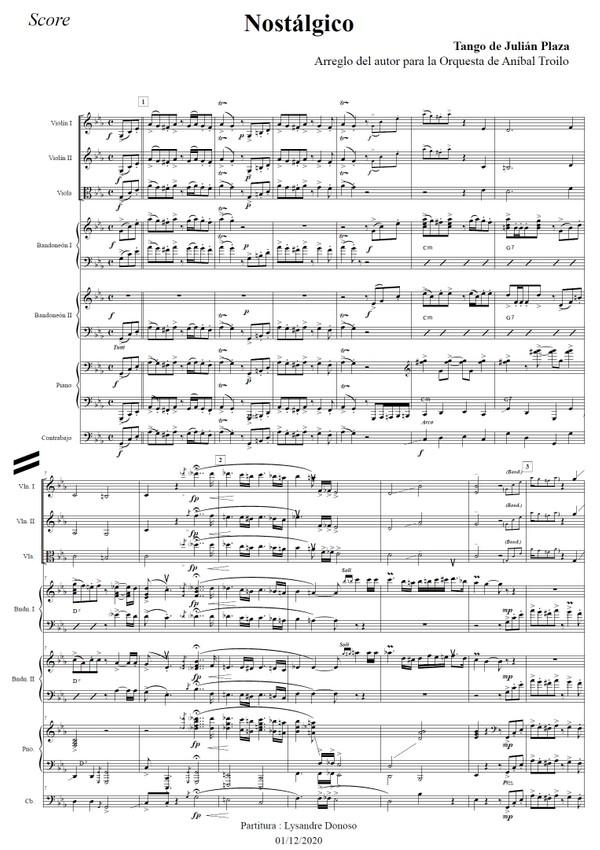 Nostálgico (arr. Julián Plaza) - orquesta típica de Aníbal Troilo