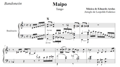 Maipo (arr. Leopoldo Federico) - bandoneón solo