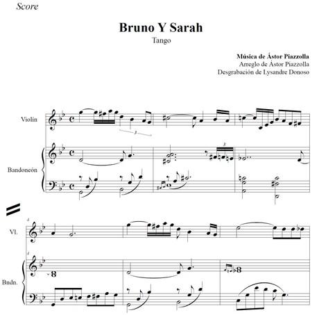 Bruno Y Sarah (arr. Astor Piazzolla) - bandoneón & violín
