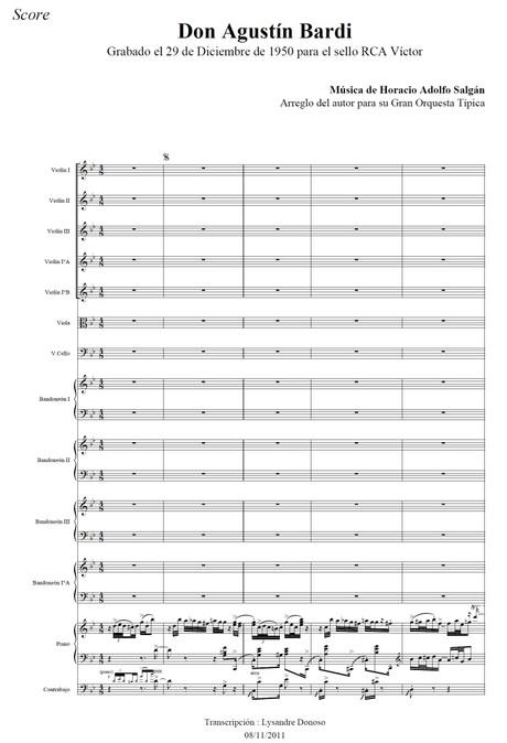 Don Agustín Bardi - orquesta típica de Horacio Salgán
