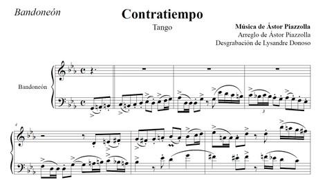 Contratiempo (arr. Astor Piazzolla) - bandoneón solo