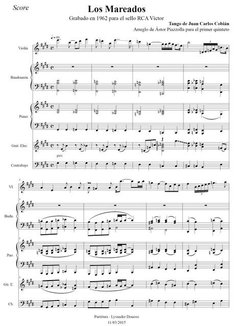 Los Mareados - quinteto de Astor Piazzolla