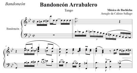 Bandoneón Arrabalero (arr. Calixto Sallago) - bandoneón solo