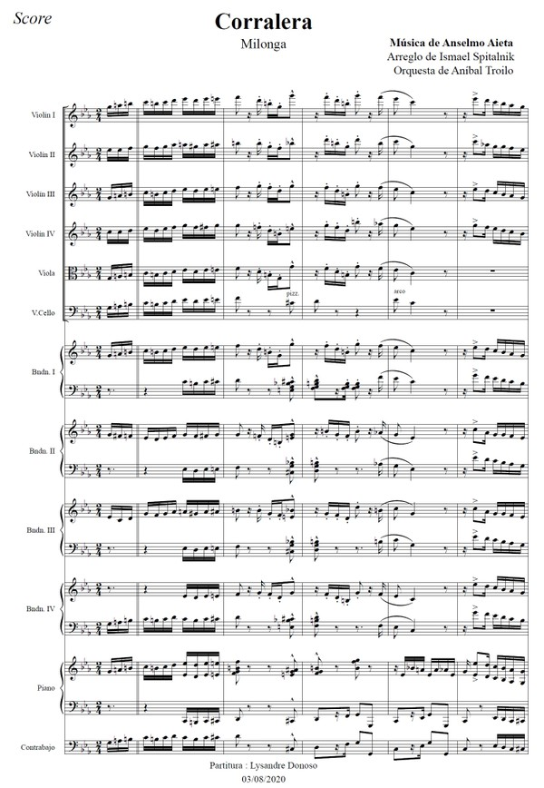 Corralera (arr. Ismael Spitalnik) - orquesta típica de Aníbal Troilo