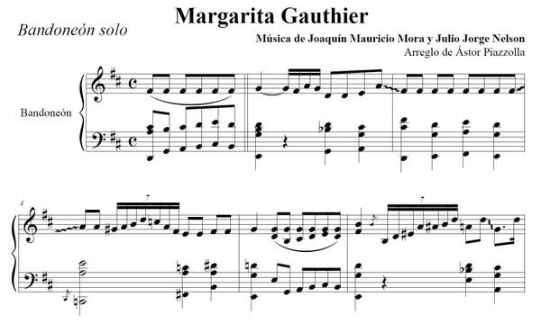 Margarita Gauthier (arr. Astor Piazzolla) - bandoneón solo