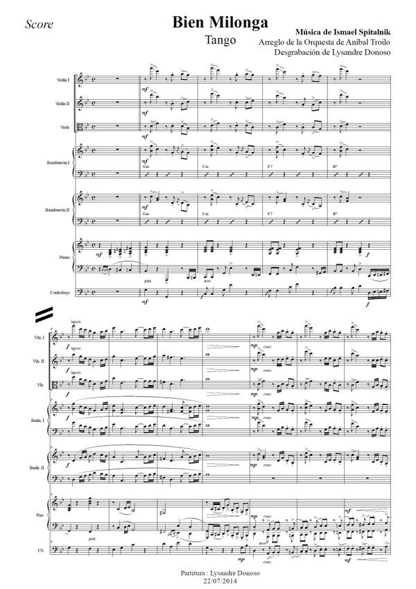 Bien Milonga (arr. Ismael Spitalnik) - orquesta típica de Aníbal Troilo