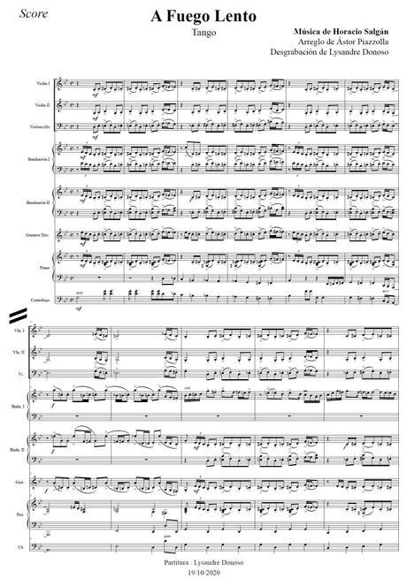 A Fuego Lento  - Octeto Buenos Aires de Astor Piazzolla