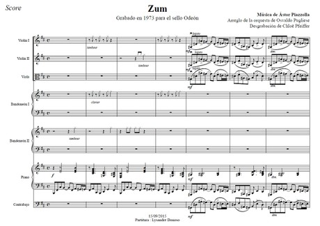 Zum - orquesta típica de Osvaldo Pugliese