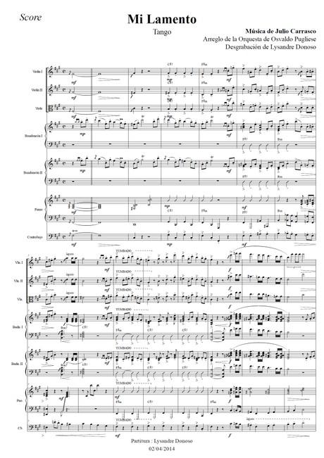 Mi Lamento - orquesta típica de Osvaldo Pugliese