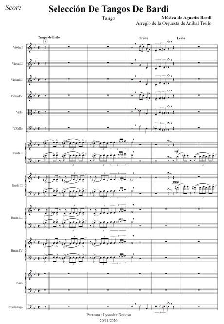 Selección De Tangos De Bardi (arr. Argentino Galván) - orquesta típica de Aníbal Troilo