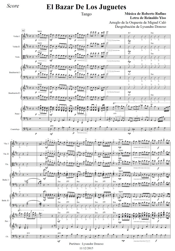 El Bazar De Los Juguetes - orquesta típica de Miguel Caló