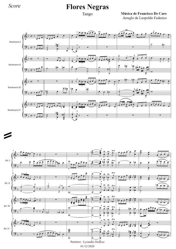 Flores Negras - orquesta típica de Leopoldo Federico