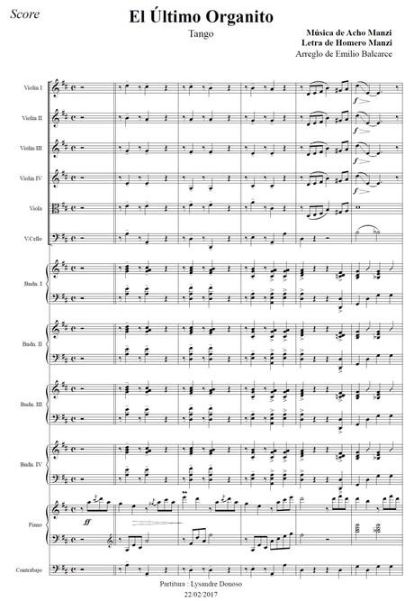 El Último Organito (arr. Emilio Balcarce) - orquesta típica de Aníbal Troilo