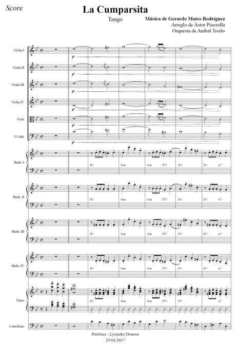 La Cumparsita (arr. Astor Piazzolla) - orquesta típica de Aníbal Troilo