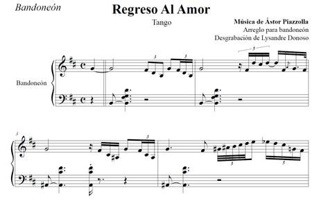 Regreso Al Amor (arr. Astor Piazzolla) - bandoneón solo