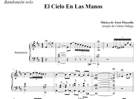 El Cielo En Las Manos (arr. Calixto Sallago) - bandoneón solo
