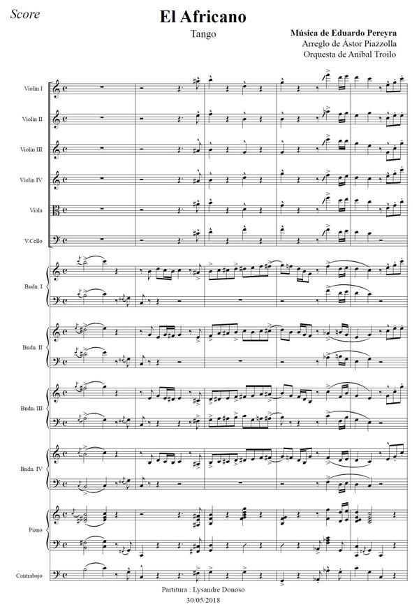 El Africano (arr. Astor Piazzolla) - orquesta típica de Aníbal Troilo