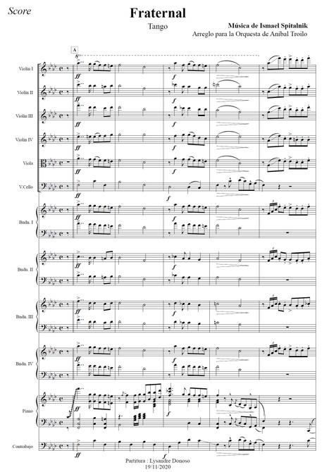 Fraternal (arr. Ismael Spitalnik) - orquesta típica de Aníbal Troilo