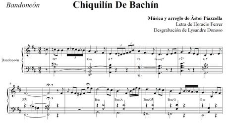 Chiquilín De Bachín (arr. Astor Piazzolla) - bandoneón solo