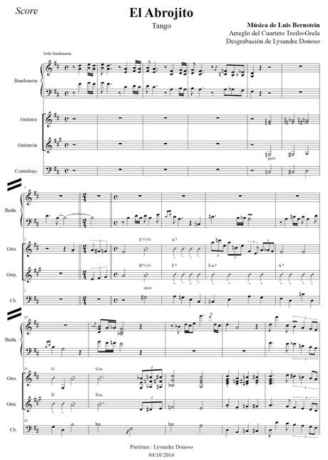 El Abrojito (arr. Troilo-Grela) - bandoneón & guitarras