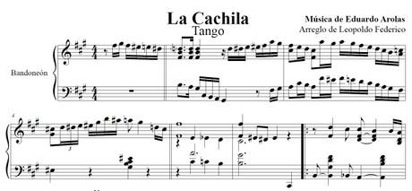 La Cachila (arr. Leopoldo Federico) - bandoneón solo