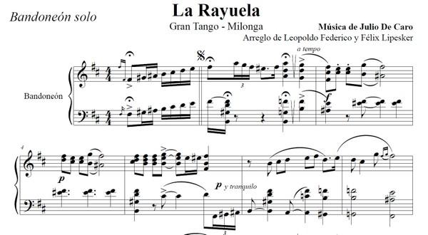 La Rayuela (arr. Leopoldo Federico) - bandoneón solo