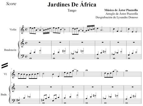 Jardines De África (arr. Astor Piazzolla) - bandoneón & violín