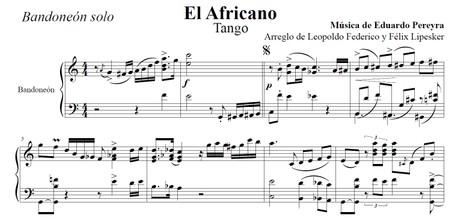 El Africano (arr. Leopoldo Federico) - bandoneón solo