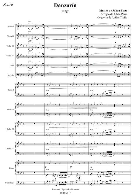 Danzarín (arr. Julián Plaza) - orquesta típica de Aníbal Troilo