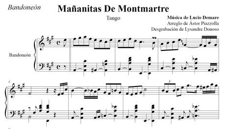 Mañanitas De Montmartre (arr. Astor Piazzolla) - bandoneón solo